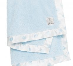 Chenille New Dot Baby Blanket Green Blue Pink Soft Gift Nursery Baby Shower Fluffy Silk