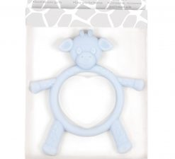 Little G Teething Toy Soothing Baby Shower Pink Blue Freezer