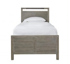 Universal Smartstuff Scrimmage Panel Bed Bedroom Metal Wood Farm House Rustic Greystone