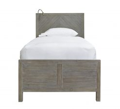 Universal Smartstuff Scrimmage Reading Bed Bedroom Barn Farm House Kids Guest Room Gray Worn Greystone