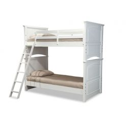 Legacy Classic Kids Madison Twin over Twin Bunk Bed Natural White Children's Bedroom Furniture