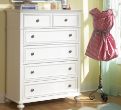 Legacy Classic Kids Madison Drawer Chest Natural White Children's Bedroom Furniture Dresser
