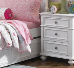 Legacy Classic Kids Madison Nightstand Natural White Children's Bedroom Furniture Bedside Table