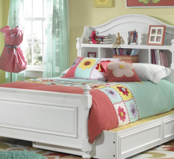 Legacy Classic Kids Madison Bedroom Natural White Children's Furniture Simple Elegant Ageless Twin Full Bed Trundle Storage Bookcase Dresser Chest Drawer Nightstand Bedside Table Chair Office Study Desk Hutch Legacy Classic Kids Madison Nursery Bookcase Twin Bed Natural White