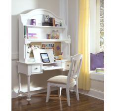 Legacy Classic Kids Madison Desk, Hutch, and Chair Natural White Children's Furniture Home Room Study Office Dorm