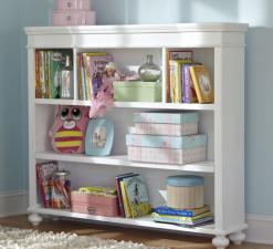 Legacy Classic Kids Madison Nursery Bookcase/Hutch Natural White Children's Bedroom Furniture Office Desk Hutch Bookcase Duel Purpose Storage