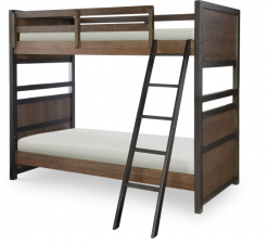 Legacy Classic Kids Fulton County Twin Over Twin Bunk Bed Tawny Brown Children's Bedroom Furniture Home Rustic Country