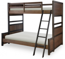 Legacy Classic Kids Fulton County Twin Over Full Bunk Bed |Tawny Brown Bedroom Children's Furniture Rustic Country
