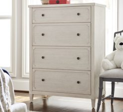 Universal Furniture Smartstuff Alabaster White Cream Wire Brushed Oak Veneers Hidden Storage Drawer Dresser Bedroom Nursery Storage Tall