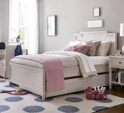 Universal Furniture Smartstuff Alabaster White Cream Wire Brushed Oak Veneer Bedroom Bed Full