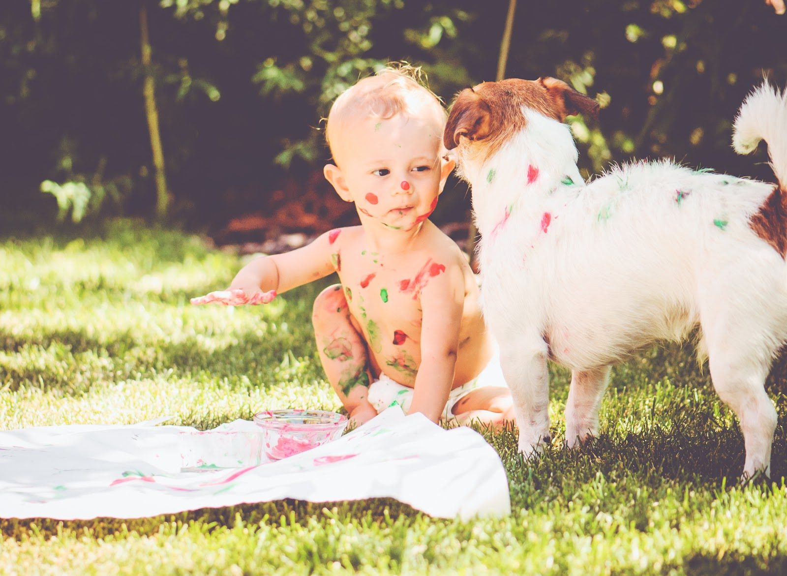 Baby finger paints puppy summer fun kids to do list edible paint