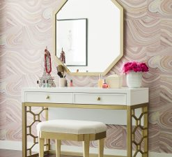 Legacy Classic Kids Chelsea by Rachael Ray Vanity Desk White with Gold Accents Children's Bedroom Furniture Kids Room Simple Elegant Unique Upscale Fancy Office
