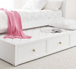 Legacy Classic Kids Chelsea by Rachael Ray Trundle White with Gold Accents Children's Bedroom Furniture Kids Room Simple Elegant Unique Upscale Fancy Bedroom