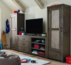 Legacy Classic Kids Bunkhouse Locker Door Chest Aged Barnwood Bedrom Storage Children's Furniture Metal Wood Drawer Rustic