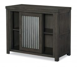 Legacy Classic Kids Bunkhouse Sliding Door Chest Aged Barnwood Bedroom Children's Furniture Rustic Dark Wood Farmhouse
