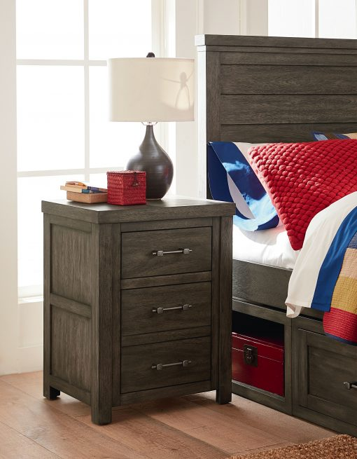 Legacy Classic Kids Bunkhouse Nightstand Aged Barnwood Children's bedroom Furniture Home Kids Room Bedside Table Rustic Farmhouse