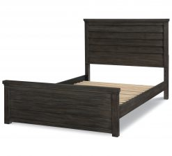 Legacy Classic Kids Bunkhouse Louvered Panel Full Bed Aged Barnwood Children's Furniture Kids Room Rustic Bedroom Farmhouse