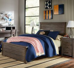 Legacy Classic Kids Bunkhouse Bedroom Aged Barnwood Rustic Farmhouse Children's Furniture Room Kids Rustic