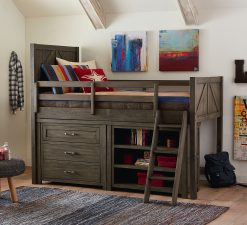 Legacy Classic Kids Bunkhouse Single Dresser Aged Barnwood Bedroom Farmhouse Children's Furniture Wood Dark