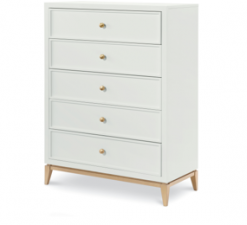 Legacy Classic Kids Chelsea by Rachael Ray Drawer Chest White with Gold Accents Children's Bedroom Furniture Kids Room Simple Elegant Unique Upscale Fancy
