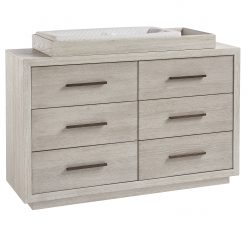 Smartstuff Drawer Dresser Sea Salt & Sand Universal Children's Furniture Simple Sophisticated Elegant Bedroom Storage Changing Station Baby Nursery