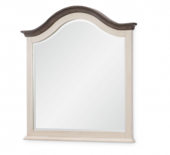 Legacy Classic Kids Brookhaven Youth Arched Mirror | Vintage Linen & Rustic Dark Elm