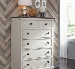 Legacy Classic Kids Brookhaven Youth Drawer Chest | Vintage Linen & Rustic Dark Elm