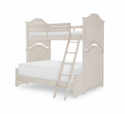 Legacy Classic Kids Brookhaven Youth Twin over Full Bunk Bed | Vintage Linen & Rustic Dark Elm