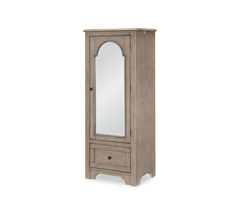 Legacy Classic Kids Farm House Mirrored Door Chest| Old Crate Brown