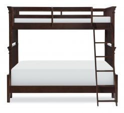 Legacy Classic Kids Canterbury Twin over Full Bunk Bed | Warm Cherry