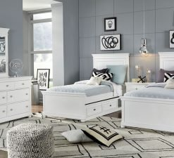 Legacy Classic Kids Canterbury Twin Panel Bed | White