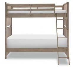 Legacy Classic Kids Farm House Mansion Twin Bunk Bed | Old Crate Brown