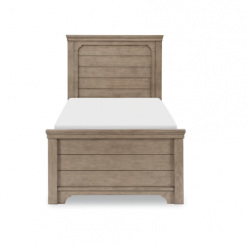 Legacy Classic Kids Farm House Mansion Twin Bed | Old Crate Brown