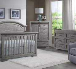 Westwood Design Foundry Arch Top Crib | Brushed Pewter