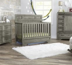 Westwood Design Foundry Flat Top Crib | Brushed Pewter