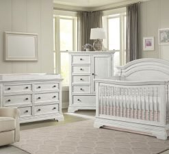 Westwood Design Olivia Arch Top Crib Nursery | Brushed White