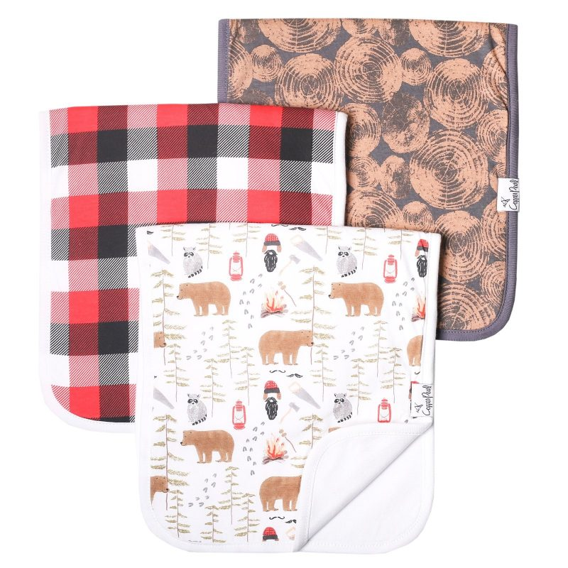 Lumberjack Burp Cloths