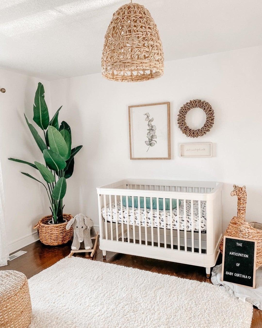 Million Dollar Baby Tanner 3-in-1 Convertible Crib | Warm White